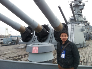 Patrick at USS New Jersey